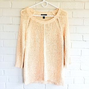 Mango pale pink peach blush scoopneck sweater